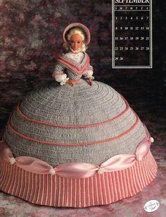 September 1991 Calendar Bed Doll Crochet Pattern Leaflet Annie's Barbie Clothes #AnniesAttic