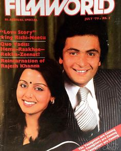 #muvyz052717 #BollywoodFlashback Newly engaged Rishi Kapoor and Neetu Singh on the cover of FilmWorld July 79 #instadaily #instapic #instagood #muvyz