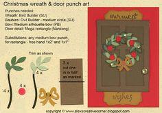 Alex's Creative Corner - Christmas wreath punch art card