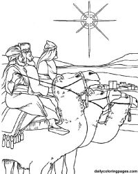 three wise men Christmas coloring pages 04