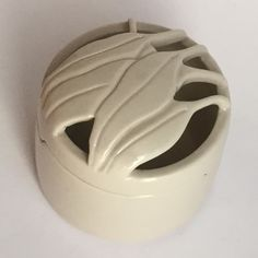 Ceramic box with cut out gum leaf lid by Rolf Bartz, 1980s