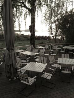 An Idyllic Inn in Sweden  Grinda Wardshus Deck Sweden | Remodelista