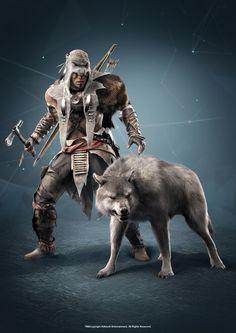 Connor Kenway <3 Mohawk Warrior, Assassins Creed Series, Zbrush, Hidden Blade, Knights Templar, Videogames, Skin Walker, Game Character, Wolf