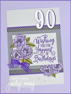 Stampin' Up! True Love Designer Series Paper | Milestone Birthday | Judy May, Just Judy Designs, Melbourne Birthday Cards For Mum, Mum Birthday, Glue Dots, Milestone Birthdays, Always And Forever, Im Happy, My Stamp, Paper Design, True Love