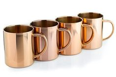 Teikis® (4 Pack) 16 Oz Moscow Mule Copper Mugs - - Chills quickly and keeps the drinks frosty