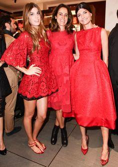 Bianca Brandolini, Coco Brandolini and Giovanna Battaglia all in Dolce & Gabbana