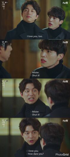 Unrequited bromance between goblin and grim reaper is hilarious  #Goblin