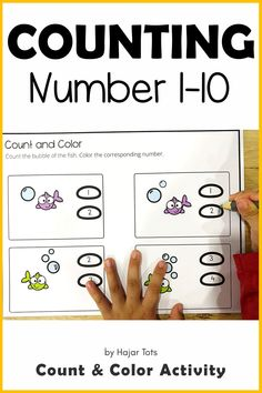 If you're looking for Preschool Fish Activities, this exciting Fish Bowl Counting Printable is perfect for you!  Great as One Fish, Two Fish book companion activity.This printable is about Counting 1-10 activities for preschool, pre-K, and Kindergarten.  Perfect for take-home packet, distance learning, morning tubs, and early finisher. Fish Activities, Subtraction Activities, Indoor Activities For Toddlers, Color Activities, Hands On Activities, Math Games, Learning Numbers Preschool, Preschool Printables, Learning Letters