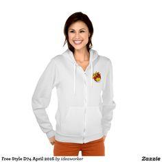 Free Style D74 Women's American Apparel Flex Fleece Zip Hoodie   #design #fashion #freestyle #women #hoodiejacket