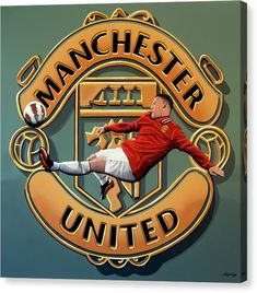 Manchester United Painting Canvas Print / Canvas Art by Paul Meijering Manchester United Merchandise, Manchester United Team, Manchester United Wallpaper, Barcelona E Real Madrid, Barcelona Soccer, Morgan Usa, Alex Morgan, Soccer Guys, Nike Soccer