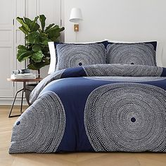 Sink into your most relaxing night's sleep between the covers of the Marimekko Fokus Duvet Cover Set . This machine-washable matching duvet cover and. Navy Comforter, Twin Comforter Sets, King Duvet Cover Sets, Bed Duvet Covers, King Comforter, Queen Duvet, Duvet Sets, Blue Bedding, Teen Bedding