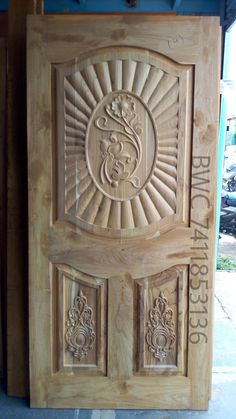 Wooden Front Door Design, Wooden Front Doors, Modern Exterior Doors, Wooden Sofa Designs, Duplex House Design, Door Design Interior, Wood Carving Designs, Single Doors, House Floor