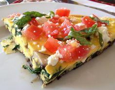 Mediterranean Vegetable Frittata by:  Southern Girl Eats Clean