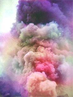 coloured smoke dust
