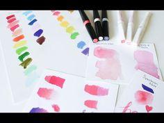 Sparkle Pens Comparison And Review - Spectrum Noir Sparkle Pens & Zig Wink Of Stella Glitter Markers - YouTube