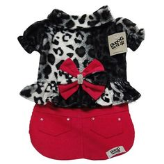 Mini Saia em Veludo Cotele Pink e Blusa Onça Dudog Vest - MeuAmigoPet.com.br #petshop #cachorro #cão #meuamigopet