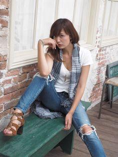 Asian Woman, Button Downs, Vest, Princess, Denim, Jeans, Womens Fashion, Jackets, Tops