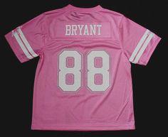 NWT Dez Bryant 88 Dallas Cowboy MESH Pink Glitter Jersey Jr Womens Youth Sz  S-XL fdc3ea380