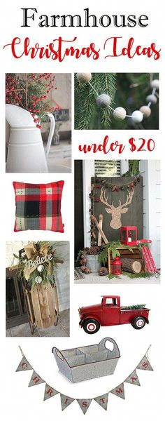 Inspiration for your fixer upper or farmhouse style Christmas home decor. Everything a farmhouse lover needs. Decoration Christmas, Farmhouse Christmas Decor, Noel Christmas, Xmas Decorations, Christmas Projects, Winter Christmas, All Things Christmas, Holiday Decor, Christmas Ideas