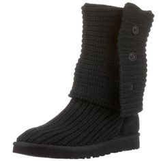 This heathered merino wool blend boot features three wooden buttons etched with the signature UGG logo for style and versatility. Slouch the boot down, cuff it all the way over or wear it all the way up. From the UGG Classic Collection, the UGG Women's Classic Cardy Boots feature a soft foam insole covered with genuine sheepskin in a fun, vintage package.