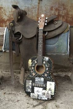 crafty guitar. Do-it-yourself project for a country musician