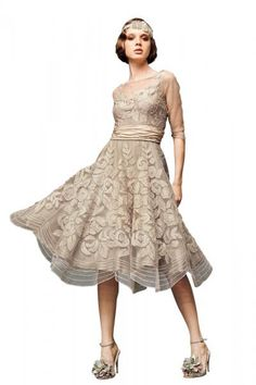 Love this vintage wedding dress from BHLDN