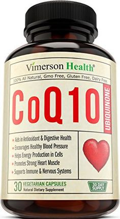 Vimerson Health CoQ10 Ubiquinone 200mg. Promotes Cardiovascular Health and Cellular Energy. Supports Healthy Brain, Heart, Blood Pressure, Digestive & Immune Systems. All Natural & Non-Gmo Supplement //Price: $24.00 & FREE Shipping //     #hashtag4