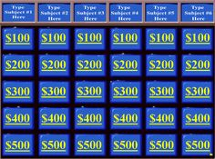 Review and Teach with These Free Jeopardy PowerPoint Templates: Three Daily Doubles. Going to use the for the End of the year review of the Old Testament