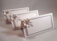 20 - Wedding Place Cards - White-Silver Place Cards - Escort Cards - Wedding Place Card - Bridal Shower - Table Decorations - Engagement on Etsy, $40.00