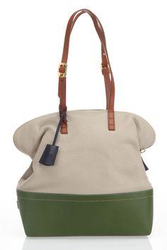 33a4681391bb Fendi Silvana Tote with Green Bottom. Stylish Handbags, Best Handbags, Tote  Handbags,