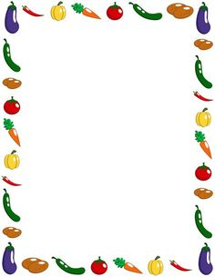 Vegetable page border. Free downloads at http://pageborders.org/download/vegetable-border/