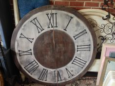 Clock wall decor: 46 inch wood table top