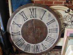 Clock wall decor: 46 inch wood table top