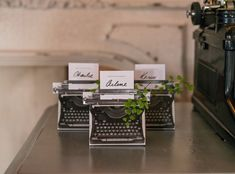 Your vows were written with love, so commemorate the affair with our Vintage Inspired Typewriter Favor Boxes! These DIY favors are perfect for vintage weddings. Wedding Favors And Gifts, Homemade Wedding Favors, Vintage Wedding Favors, Wedding Shower Favors, Wedding Favor Boxes, Party Favors, Wedding Ideas, Wedding Tokens, Favour Boxes