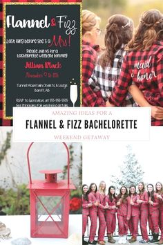We're loving the trendy flannel and fizz bachelorette party theme we've noticed popping up. This is a great theme for a mountain bachelorette party. Bachelorette Party Planning, Bachelorette Party Gifts, Bachelorette Weekend, Groomsman Gifts, Tees, Party Ideas, Printables, Ink, Pretty
