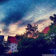 Berlin sunset.