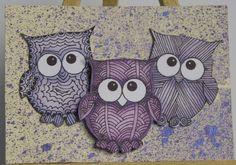 Purple Owl Artist Trading Card