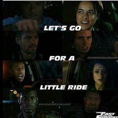 Lets go for little ride !!!  @paulwalker   @jordanabrewster  @mrodofficial   @vindiesel   @tyrese  @ludacris   @therock   @nathalieemmanuel   #fastfamily #paul... - Fast N Furious (@fastnfuriousfrachise)
