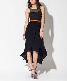 Black Upstate Sleeveless Hi-Low Dress