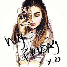 Hey #Friday, I'm so glad you're here xo #TGIF #weekend #wine