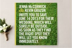 Save the wedding date card #engagement #wedding