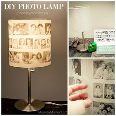Living in a small house I often find myself very short on wall space. That's when I came up with the coolest way to display my picutres - A DIY Photo Lamp