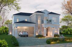 Classic House Exterior, Classic House Design, House Front Design, Minimalist House Design, Dream House Exterior, Modern House Design, Small Luxury Homes, Luxury Homes Dream Houses, Architectural House Plans