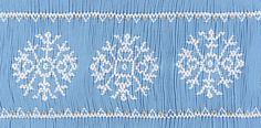 "CEC- ""Fantasy Snowflakes"" Smocking Plate by Crosseyed Cricket"