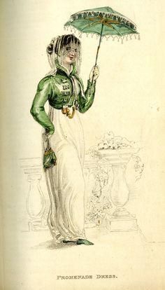 Fashion Plate (Promenade Dress), Rudolph Ackermann (England, London, 1764-1834)…