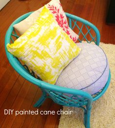 DIY painted cane chair