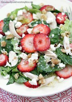 Strawberry, Chicken and Feta Salad