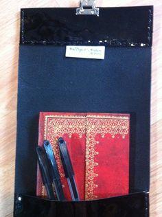 Slimline black patent leather pencil case £16.49