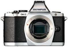 Olympus OM-D EM-5 Micro Four Thirds Interchangeable Lens Camera - Silver (Body Only)