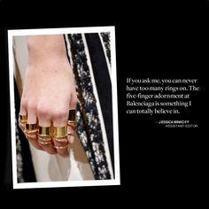 5-finger rings - Balenciaga - Spring 2013